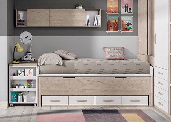 Habitaciones juveniles y dormitorios infantiles for Camas infantiles diseno moderno