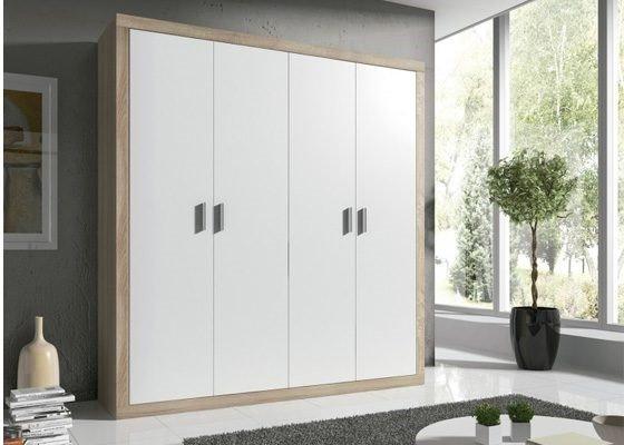 armario 4 puertas blanco y madera modelo laura 560x400 2