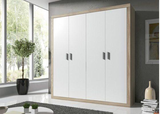 Armarios baratos muebles a buen precio arcomuebles - Armario madera blanco ...
