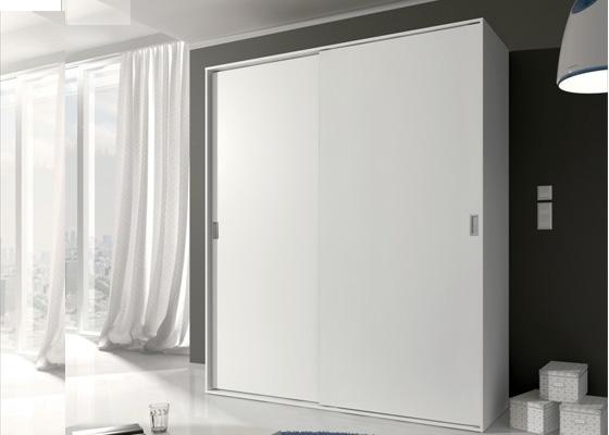Armario dos puertas corredera blanco - Armario blanco puertas correderas ...