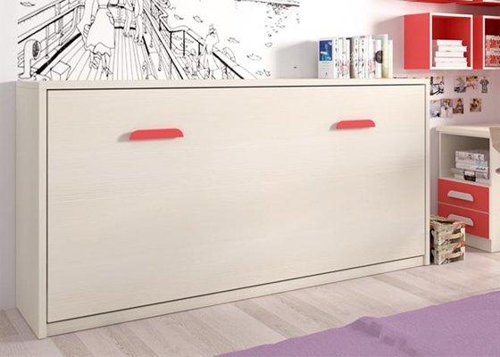 cama abatible horizontal blanca 2