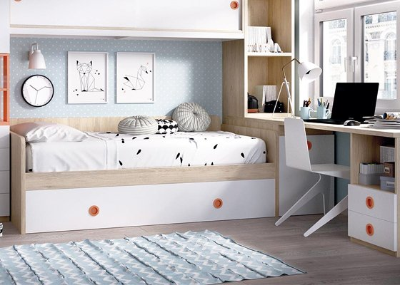 cama nido blanca con arrastre