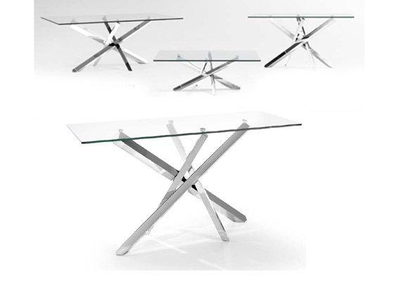 mesa auxiliar de cristal CONSOLA ARLES 02