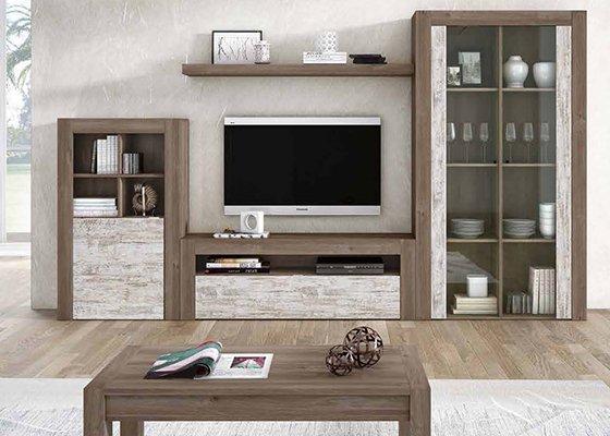 Muebles de salon de dise o al mejor precio for Salones mezcla clasico moderno