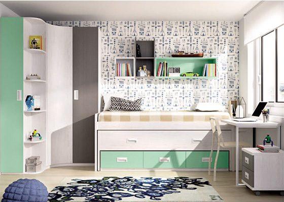 dormitorio juvenil COMPACTOS coleccion PREMIER 02 2