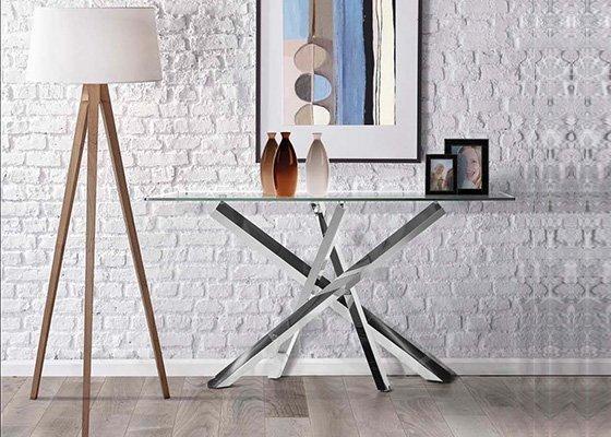 mesa auxiliar de cristal CONSOLA ARLES 01