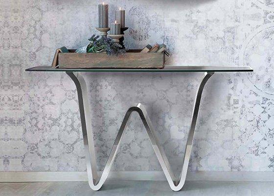 mesa auxiliar de salon CONSOLA CARRARA 01