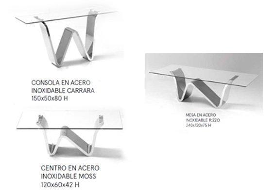 mesa auxiliar de salon CONSOLA CARRARA 02