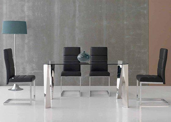 mesa de cristal KATANA 02
