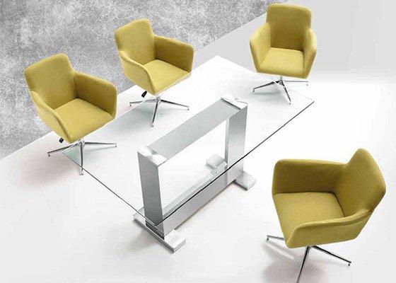 mesa de cristal KUBIC 02