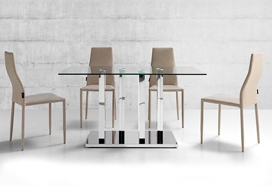 mesa de cristal LOTUS 02