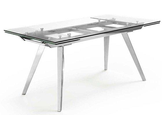mesa de cristal extensible MIAMI EXTENSIBLE 01