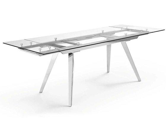 mesa de cristal extensible MIAMI EXTENSIBLE 02