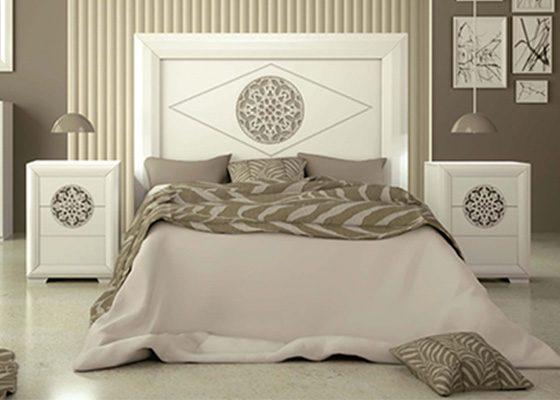dormitorio de matrimonio de madera blanco coleccion PINDOBLA 09
