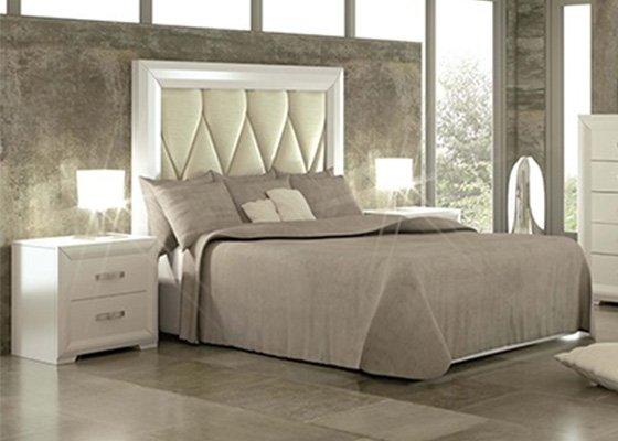 dormitorio de matrimonio de madera blanco coleccion PINDOBLA 10