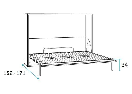 cama abatiblede natrimonio horizontal 2 abierta